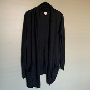 Wilfred black duster size S silk and cashmere